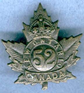 """52nd Bn, C.E.F. - """"Mount Sorrel, Somme ..."""