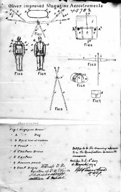 The diagram page from the original patent for the Oliver Equipment. (Library and Archives Canada online image.)