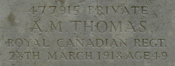 Pte Albert Thomas