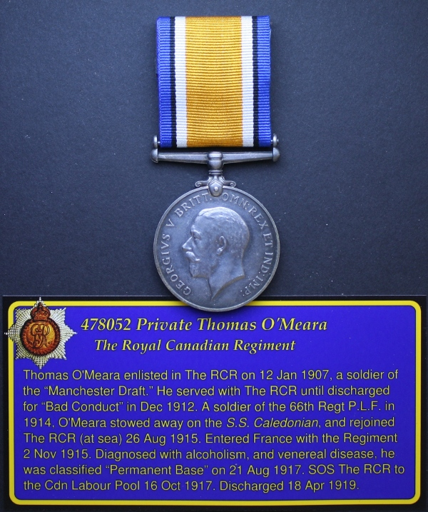 The British War medal awarded to Pte Thomas O'Meara. Photo by Capt Michael O'Leary. (Private collection.)
