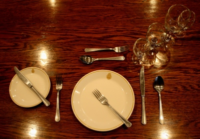 Placing The Utensils To Indicate You Have Finished Course And Staff May Remove Your